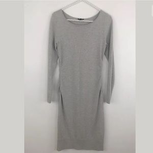 Ann Taylor Gray Mid Length Sweater Dress